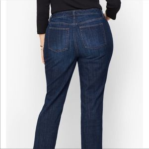 Lands' End Straight Leg Cropped Jeans